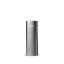 Qwetch dubbelwandige thermosfles met 2 theefilters 300 ml Brushed Steel