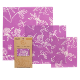 Bee's Wrap purple - set of 3 assorted