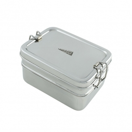 Two tier stainless steel lunchbox with mini container