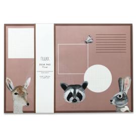 Deskpad van gerecycled papier Bunny & Friends - Nuukk