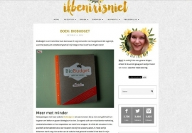 Biobudget boek - Ikbenirisniet.nl oktober 2014