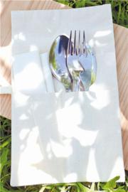 Bestekset voor onderweg, mes, lepel, vork, flesopener