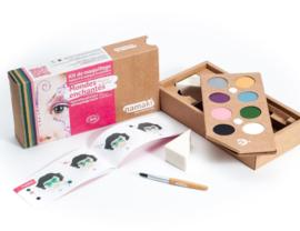 kinderschminkset voor het gezicht - magical world 8 kleuren