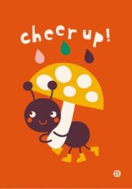 wenskaart met envelop Cheer up - BORA illustraties