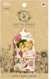 Vegan sandwich wrap - Bee's Wrap plantaardige wasdoek - Meadow Magic