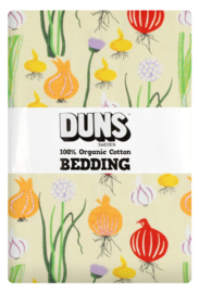 Eenpersoons dekbedovertrekset Garlic chives and onions pale green DUNS Sweden - 150x200cm