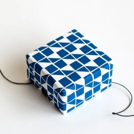 wrapping paper Ribbon blue Jessica Nielsen