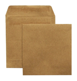 10 stuks vierkante kraft envelopjes 10.2x10.8cm - gerecycled papier