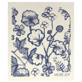 Vaatdoek Flowers Blue - biologisch afbreekbaar