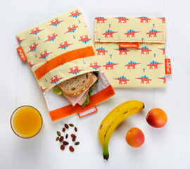 Herbruikbaar boterhamzakje Snack 'n Go kids Dino