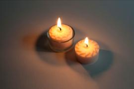 25 theelichtjes 4 branduren van koolzaadwas