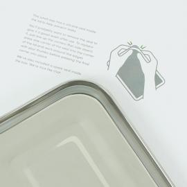 Yanam Lekvrije XL broodtrommel langwerpig RVS A Slice of Green