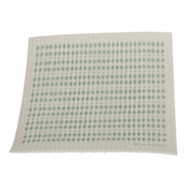 biodegradable dishcloth - diamonds green