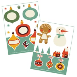 2 stickervellen a6 Kerst - Bora illustraties