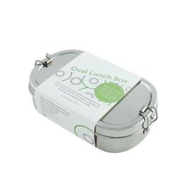 Kangra Ovale broodtrommel RVS met mini RVS doosje