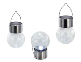 Set van 3 buitenlampjes met zonnepaneel