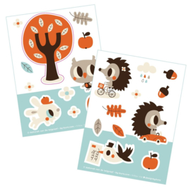2 stickervellen a6 Henry & Hetty- Bora illustraties