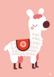A3 poster Alpaca love - BORA illustraties
