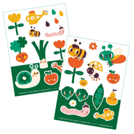 2 stickervellen a6 In the Garden - Bora illustraties