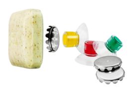 Set van 3 magnetische zeephouders met zuignap - Savont