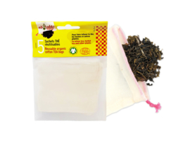 Herbruikbare biokatoenen theezakjes 5 stuks