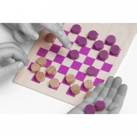 Checkers Time to Play pink