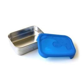 RVS broodtrommel Eco Splash box lekvrij 16 x 12 x 5cm - Blue Water Bento