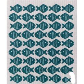 Vaatdoek Blue Fish - biologisch afbreekbaar
