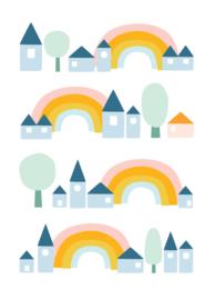 ansichtkaart regenboog - Hikje