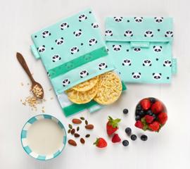 Herbruikbaar boterhamzakje Snack 'n Go kids Panda
