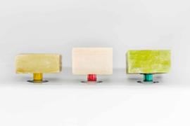 Set van 3 magnetische zeephouders kleur met zuignap - Savont