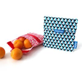 Herbruikbaar boterhamzakje Snack 'n Go Eco Tiles Red