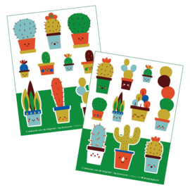 2 stickervellen a6 Cactus - Bora illustraties