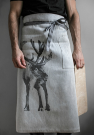 keuken sloof linnen biokatoen - Rendier
