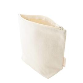 Toilettas van biokatoen ecru 24 x 18 x 9cm