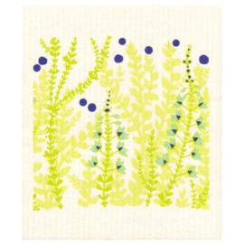 Vaatdoek Green Flowers  - biologisch afbreekbaar