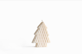Babongo Kerstboom Diamond kaars van koolzaadwas - handgemaakt