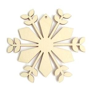 Decoratieve houten hanger - Bloem 8cm