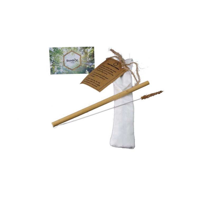Bamboe rietje met schoonmaakborsteltje - Sipster