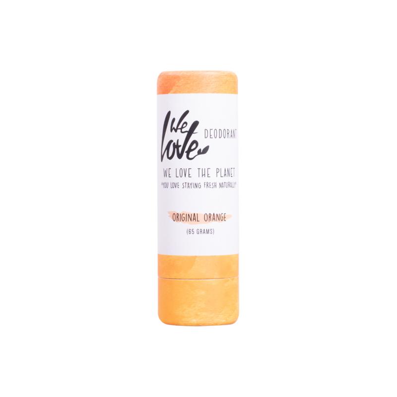 We Love the Planet natuurlijke deodorant stick Original Orange