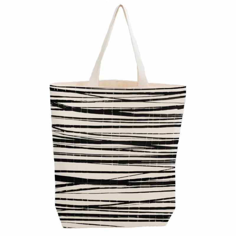 Citybag van biokatoen met Wrapping Stripes dessin