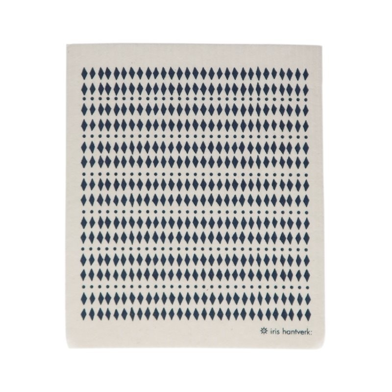 Biodegradable dishcloth - diamonds blue