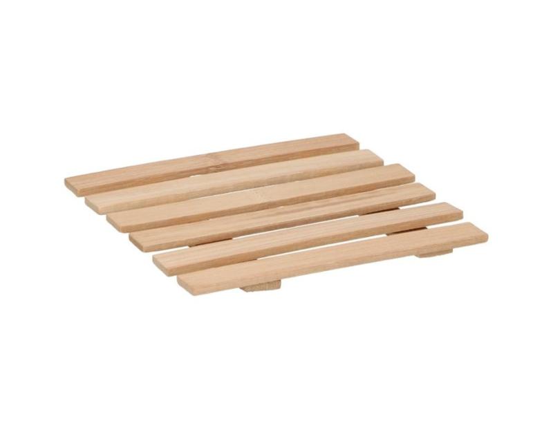 bamboe onderzetter 18x18cm