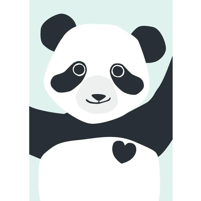 ansichtkaart Panda - Hikje