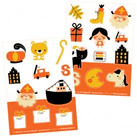 2 stickervellen a6 Sinterklaas - Bora illustraties