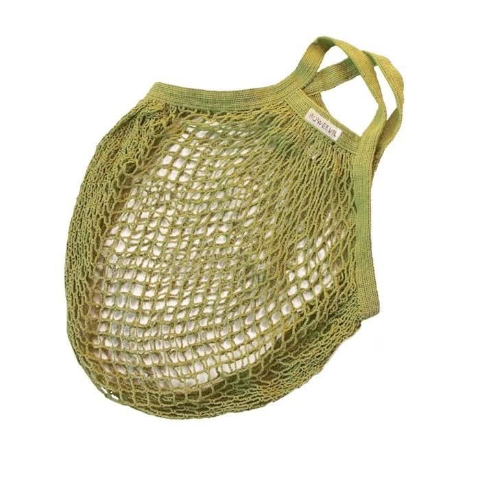 Granny's nettasje - boodschappentasje van biokatoen lime