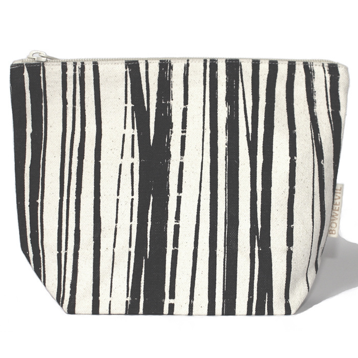 Toilettasje van biokatoen medium Wrapping Stripes 24x18x9cm