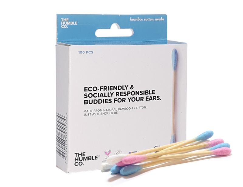 wattentaafjes van bamboe en katoen blauw - Humblebrush