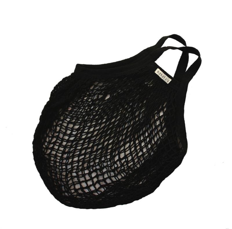 Granny's nettasje - boodschappentasje van biokatoen zwart