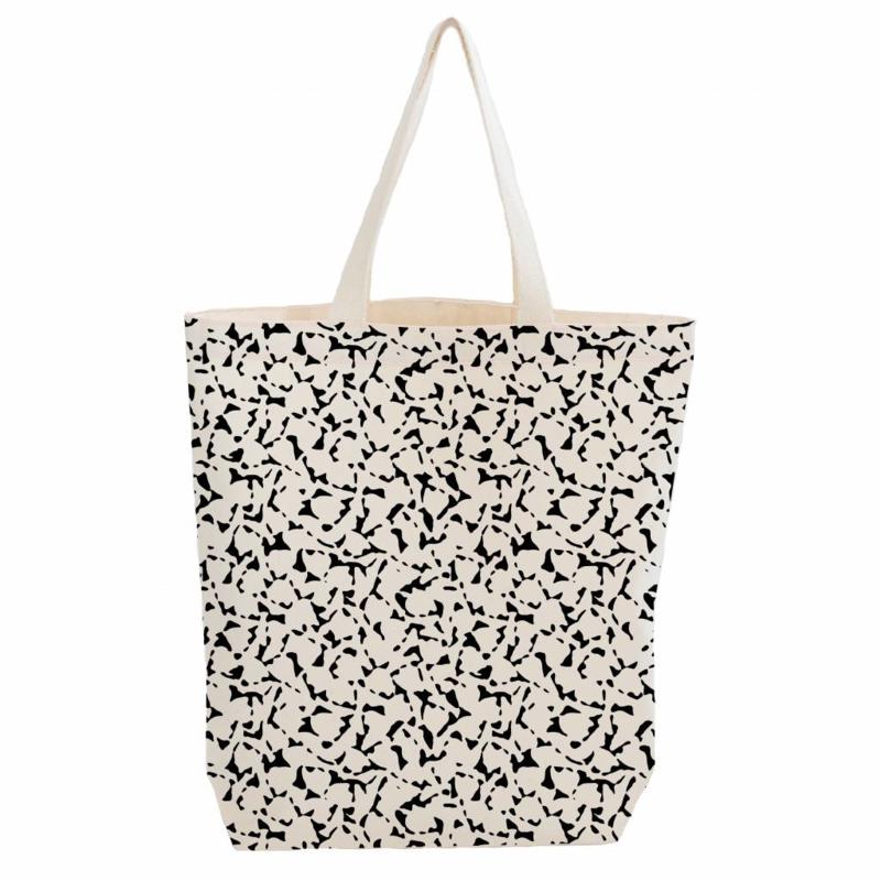 Citybag van biokatoen met Foliage dessin
